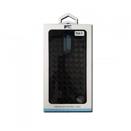 LG Stylo 5 Hybrid Woven Pattern Design - Black