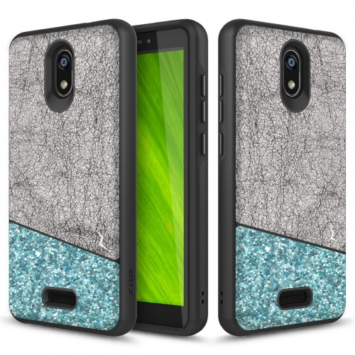 ZIZO DIVISION CRICKET ICON SMARTPHONE CASE - DUAL LAYERED AND SHOCKPROOF PROTECTION - Black & Mint