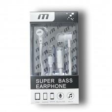 M Super Bass Earphones Color-White