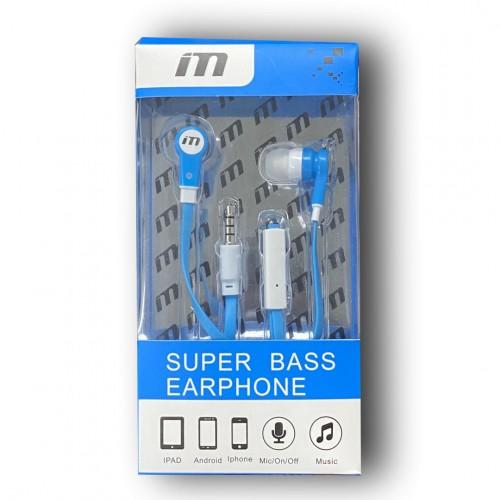 M Super Bass Earphones Color-Blue/White