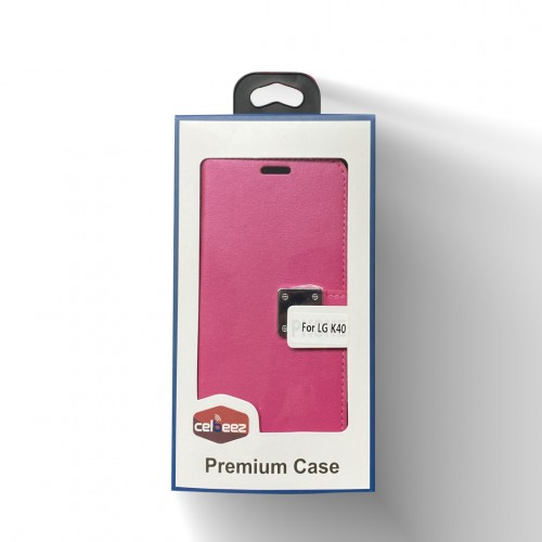 Wallet With Magnet Clip For LG Aristo 4 Plus Color-Hot Pink