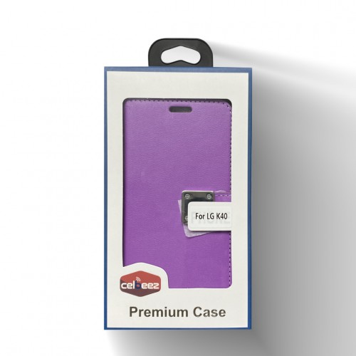 Wallet With Magnet Clip For LG Aristo 4 Plus Color-Purple