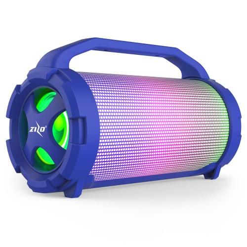 ZIZO Aurora Z1 Portable LED Bluetooth Speaker-Blue