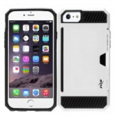 IPHONE 8/7/6/6s - ZV METALLIC HYBRID Case Cover Credit Card Slot