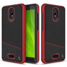 ZIZO DIVISION CRICKET ICON SMARTPHONE CASE - DUAL LAYERED AND SHOCKPROOF PROTECTION - Black & Red
