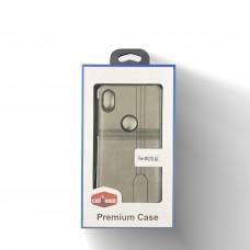 Leather Case For Moto E6 Color-Gray