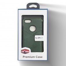 Leather Case With Credit Card Slot For Iphone 6/7/8 Color-Green
