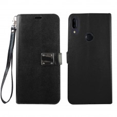 Wallet With Magnetic Clip For Samsung A10E Color-Black