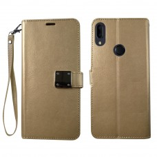 Wallet With Magnetic Clip For Samsung A10E Color-Gold