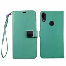 Wallet With Magnetic Clip For Samsung A10E Color-Teal